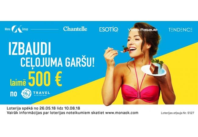 """Preču loterijas """"Pērc jebkuru peldkostīmu veikalos  Tendence, Chantelle, Tendence Unique, Esotiq, Veļas Pasaule un piedalies AfyTravel dāvanu kartes 500 EUR vērtībā izlozē"""" noteikumi"""