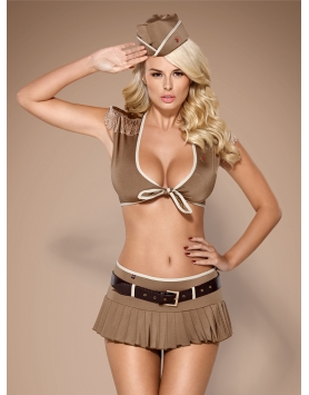 814 Solider costume Brown