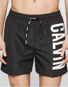 Pludmales šorti Calvin Klein KM0KM00010-001 Black