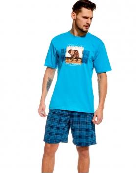 Vīriešu pidžama Cornette Africa 32652 TurquoiseJeans