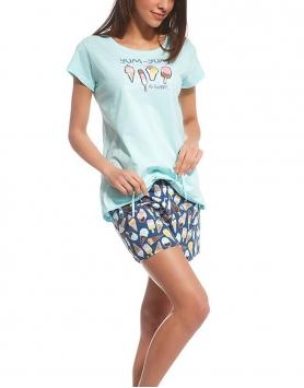 Sieviešu pidžama Cornette 628102 Ice Cream TurquoiseJenas