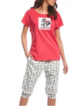 Sieviešu pidžama Cornette 06397 Let's Go PinkWhite