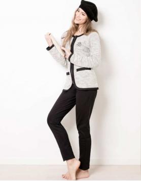 Mājas apģērba komplekts Laura Biagiotti BPJ96124S Nero