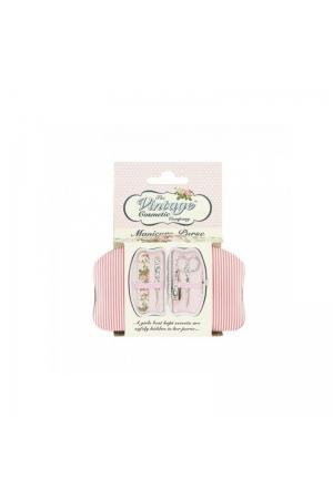 Косметические принадлежности The Vintage Cosmetic Pink Stripe